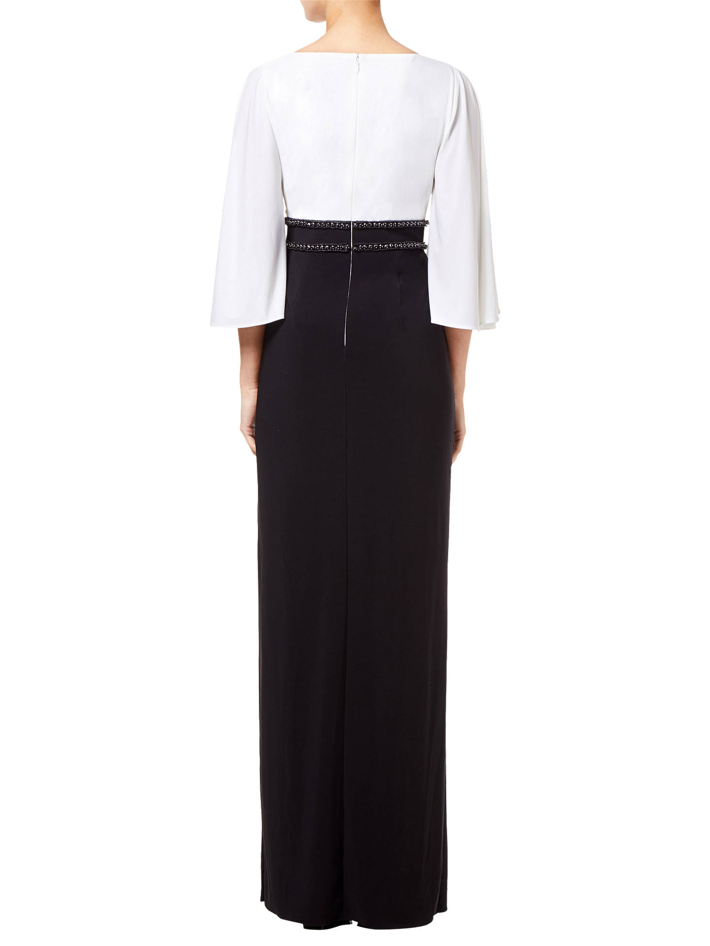 BuyAdrianna Papell Two-Tone Angel Sleeve Long Jersey Dress, Ivory/Black, 18 Online at johnlewis.com