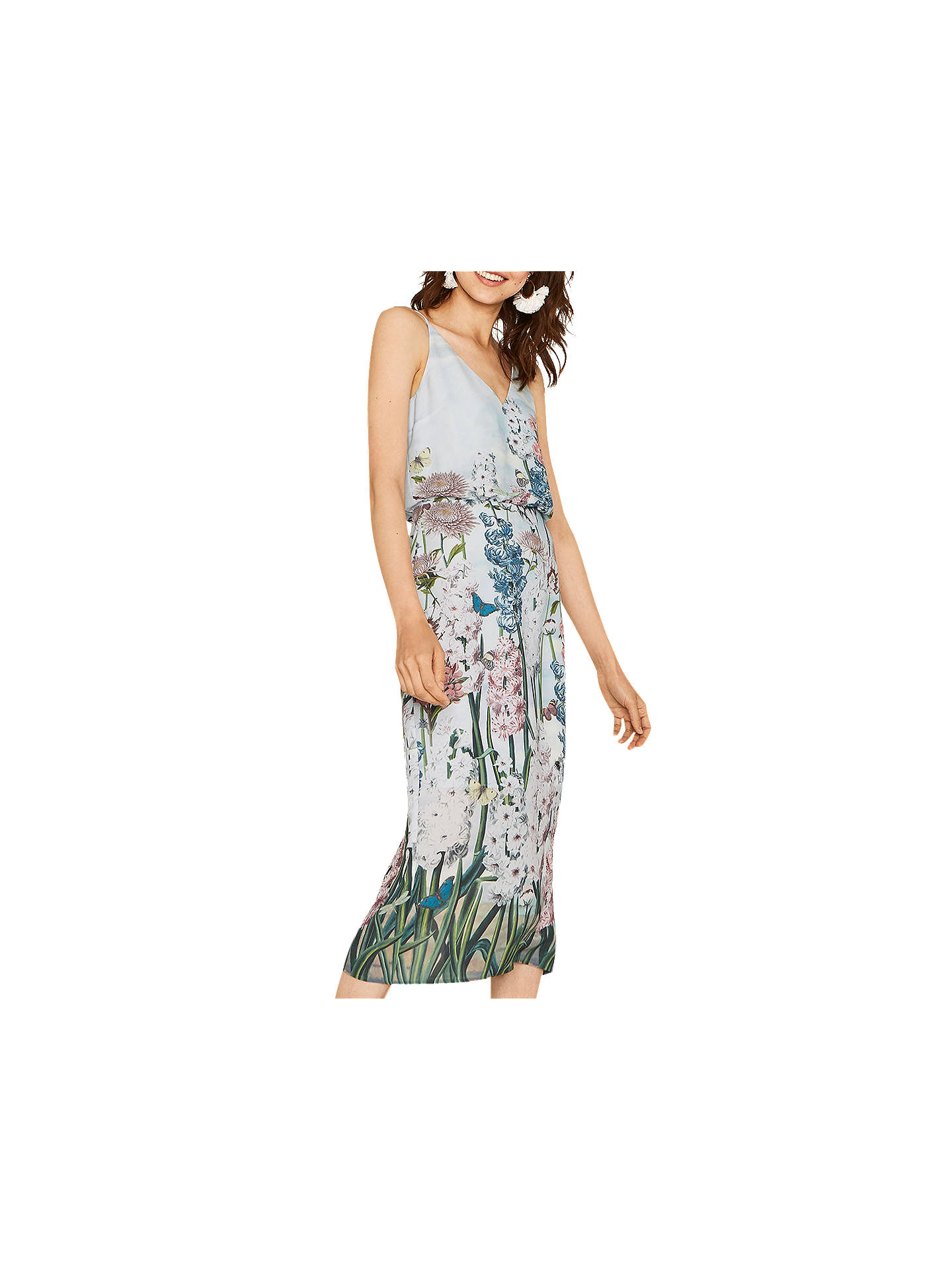 Oasis Natural History Museum Column Midi Dress, Multi at John Lewis