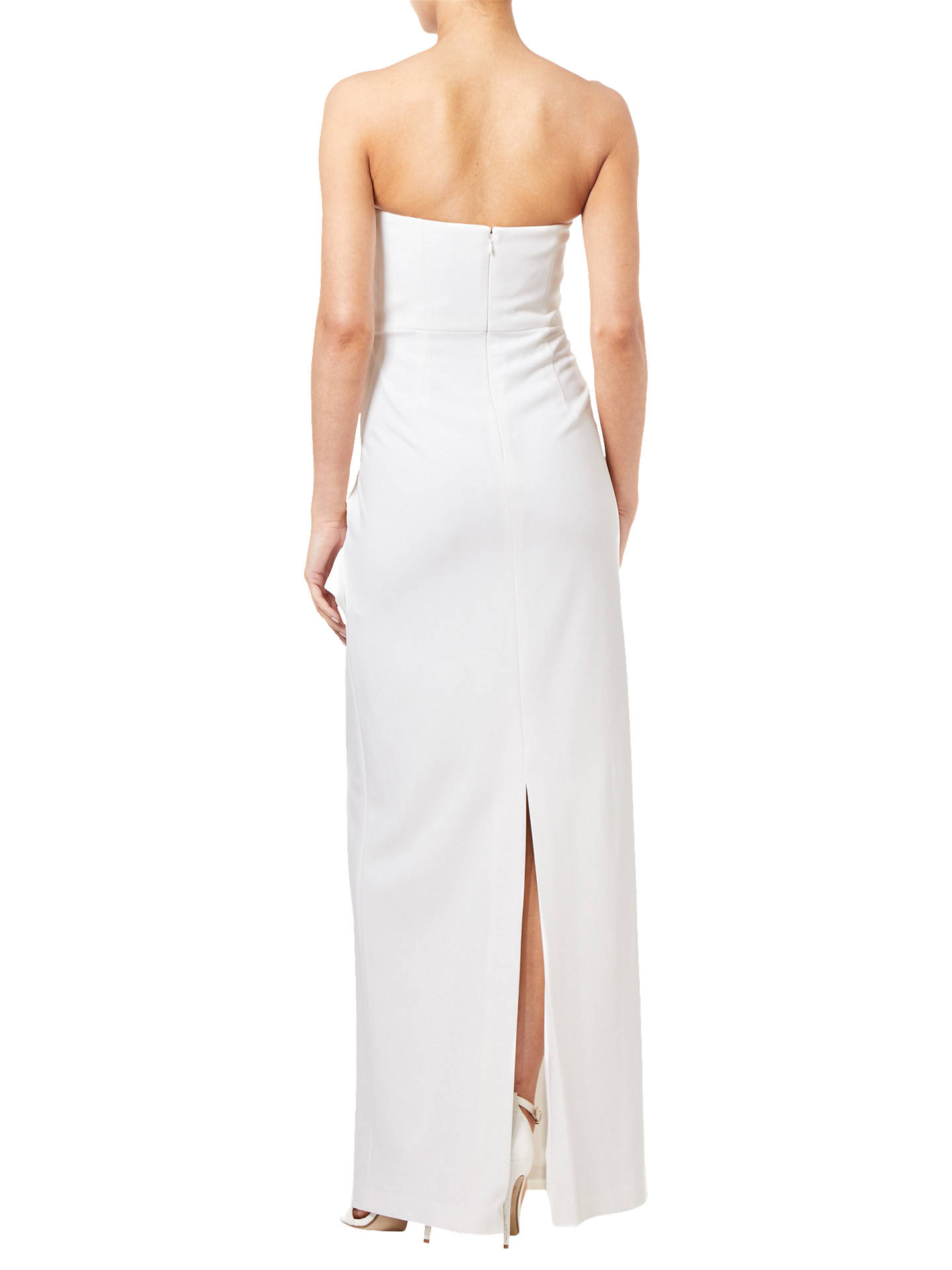 Buy Adrianna Papell Knitted Crepe Gown, Ivory, 6 Online at johnlewis.com