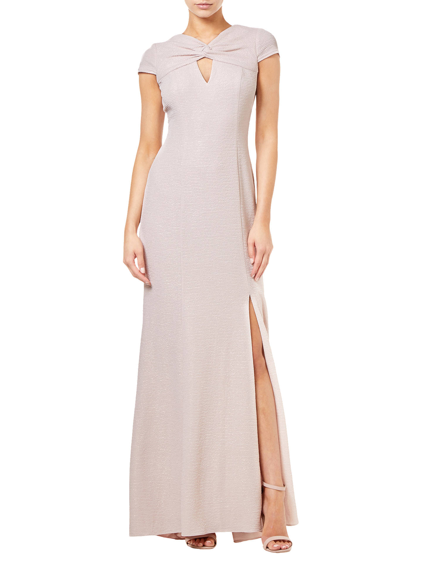 Buy Adrianna Papell Metallic Knitted Dress, Blush Pink, 14 Online at johnlewis.com