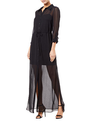 Buy Adrianna Papell Spider Maxi Dress, Black, 6 Online at johnlewis.com