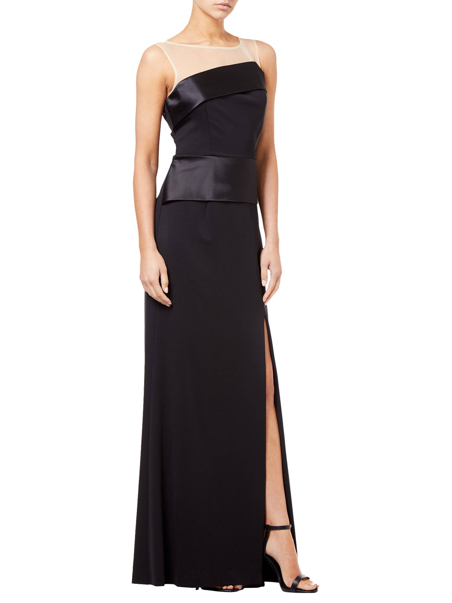 BuyAdrianna Papell Lola Long Dress, Black, 10 Online at johnlewis.com