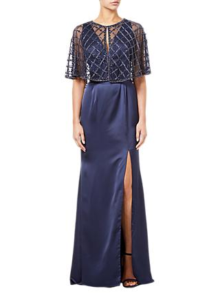 Adrianna Papell Beaded Mesh Cover Up