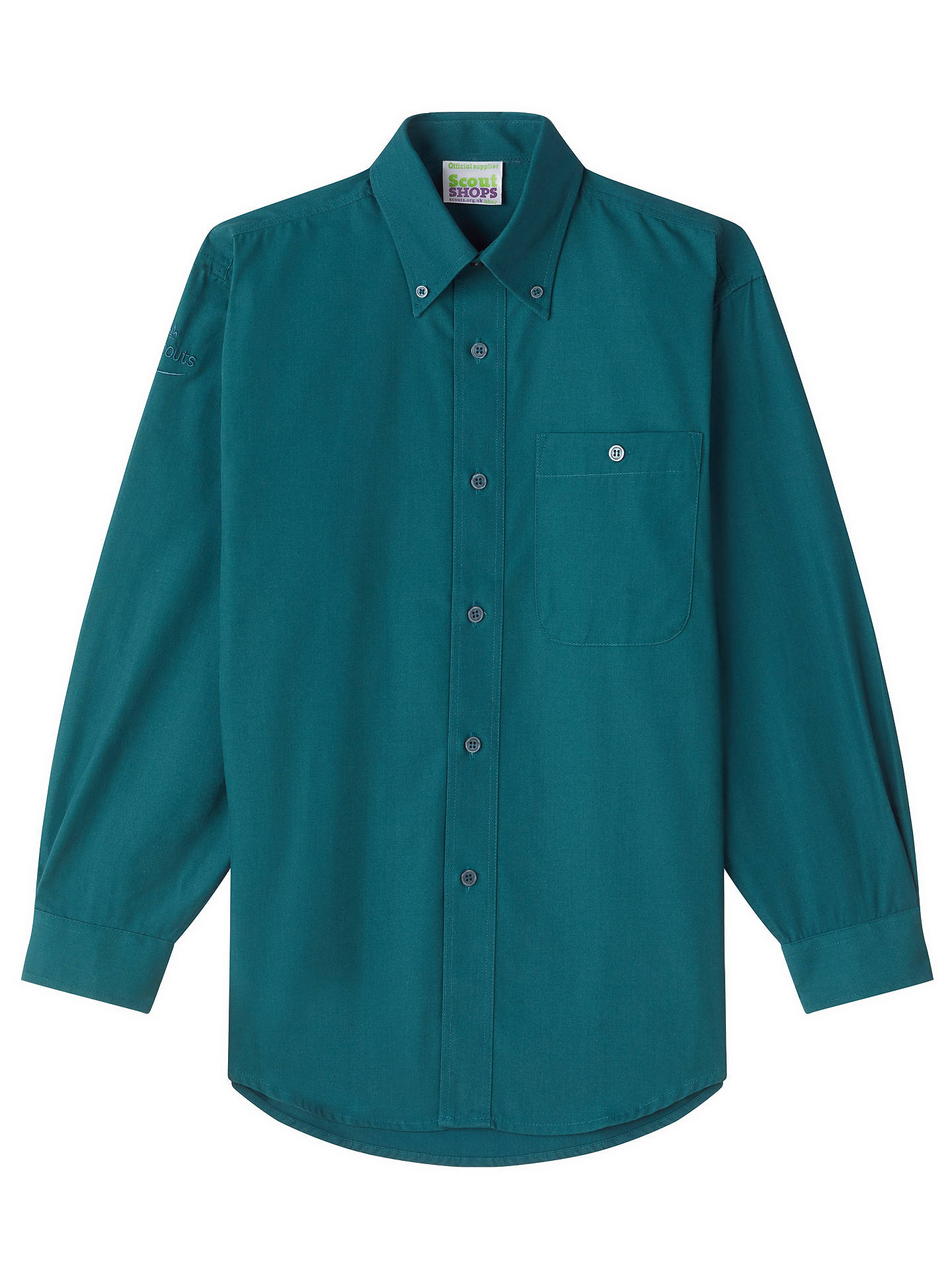 Buy Scouts Long Sleeve Shirt, Green, XXS Online at johnlewis.com