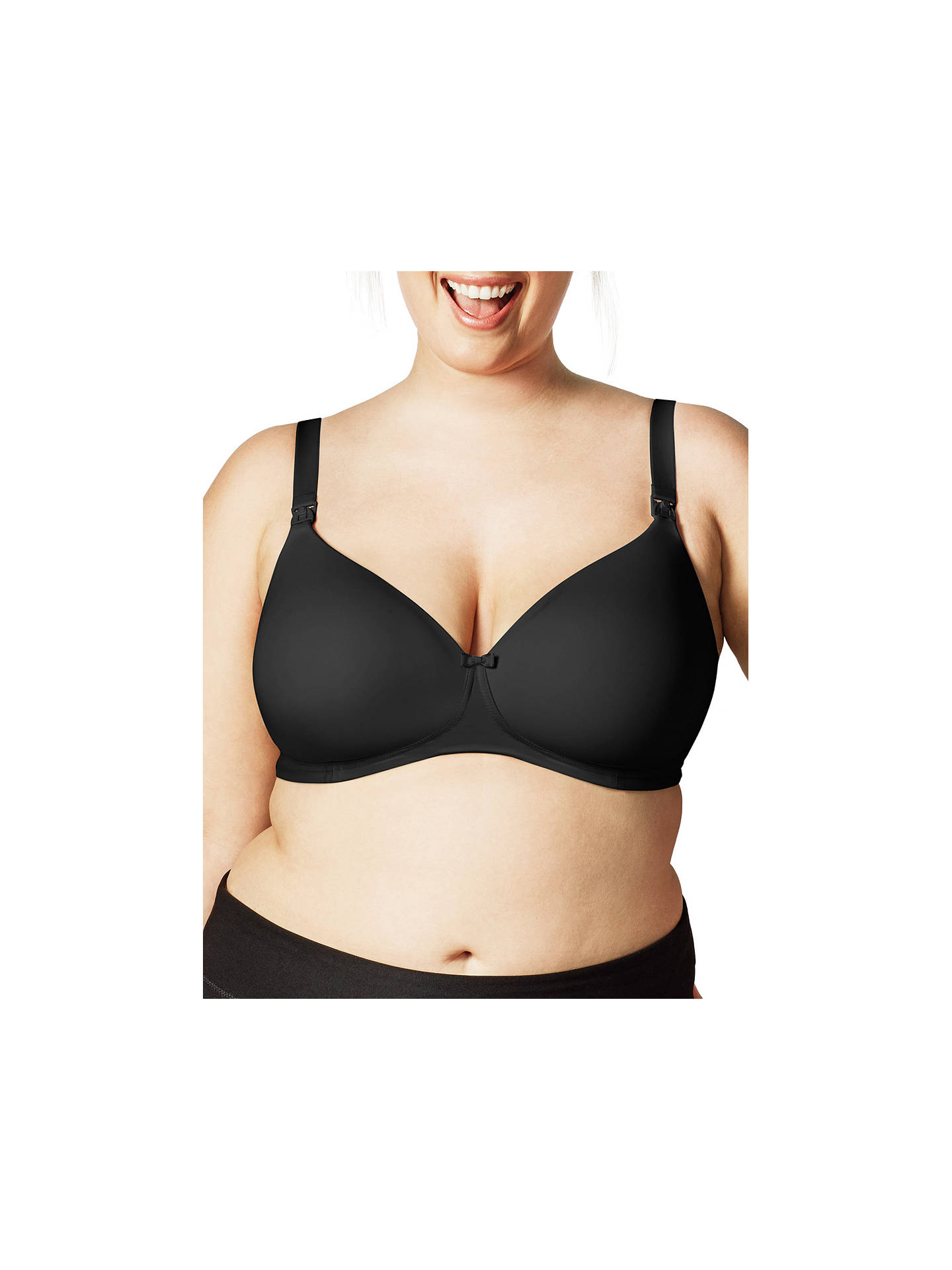 Buy Bravado Buttercup Nursing Bra, Black, 36FF Online at johnlewis.com