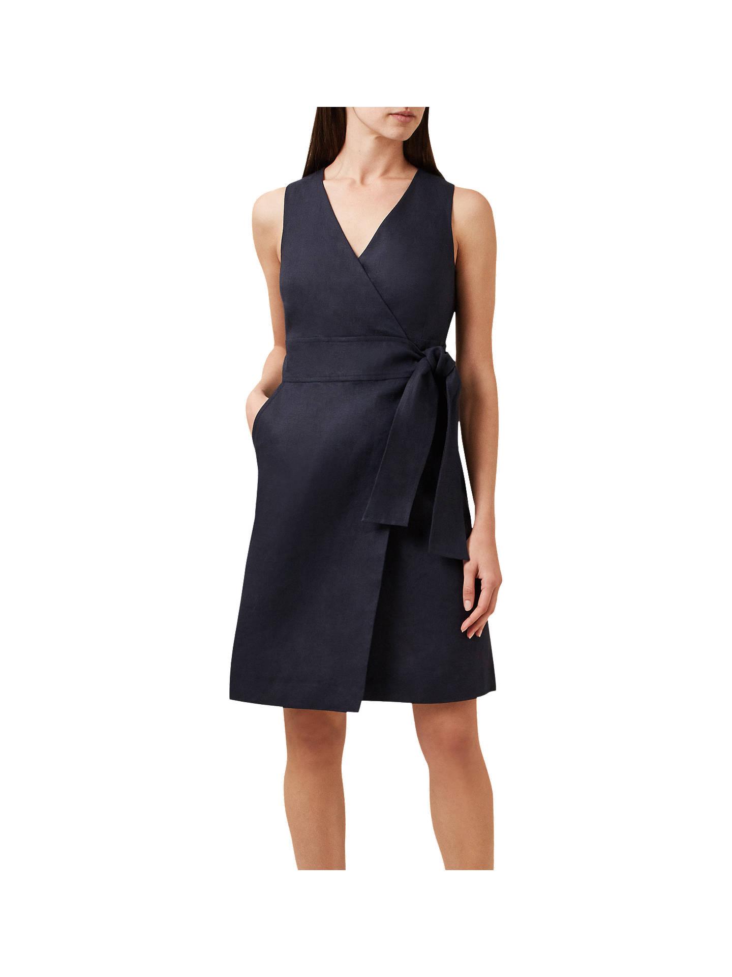 1d5961cb4d364 Buy Hobbs Annette Linen Wrap Dress