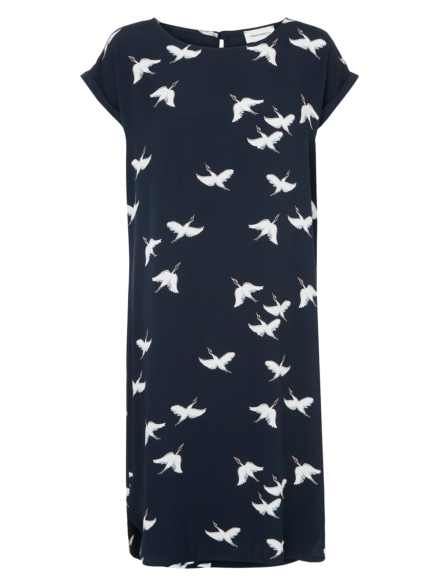 Buy ARMEDANGELS Hila Cranes In The Sky Dress, Navy, XS Online at johnlewis.com