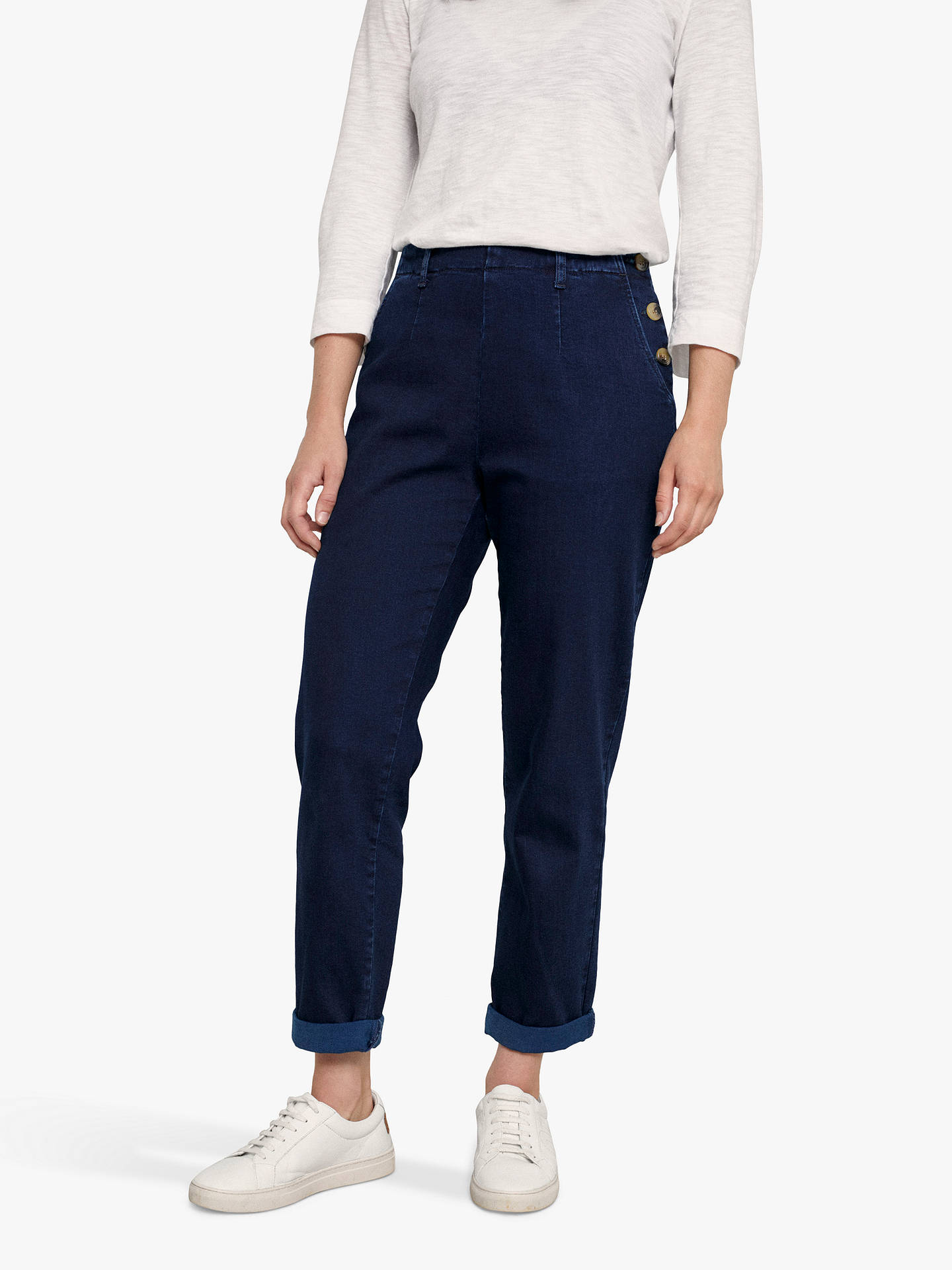 Buy Seasalt Waterdance Trousers, Dark Indigo Wash, 8 Online at johnlewis.com