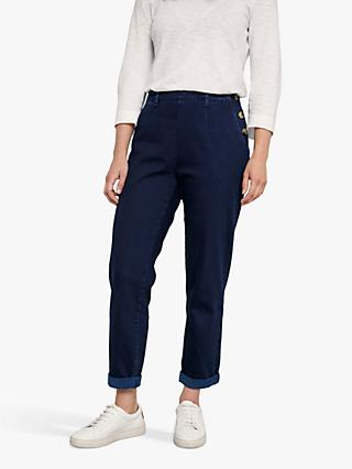 Seasalt Waterdance Trousers, Dark Indigo Wash
