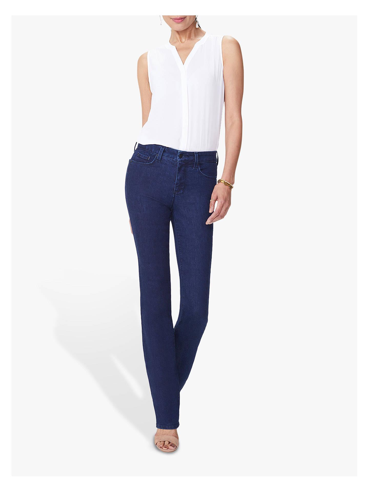 18 NEW 10 NYDJ Women Marilyn Straight Jeans Blue Dark Wash UK 8