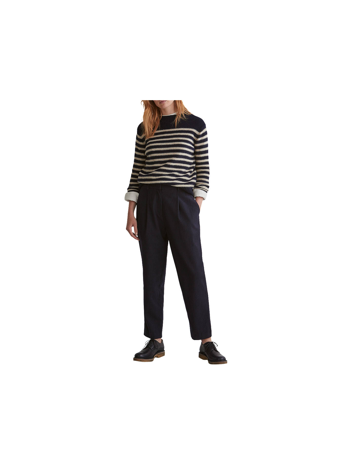 BuyToast Stripe Merino Wool Jumper, Navy/Ecru, 8 Online at johnlewis.com