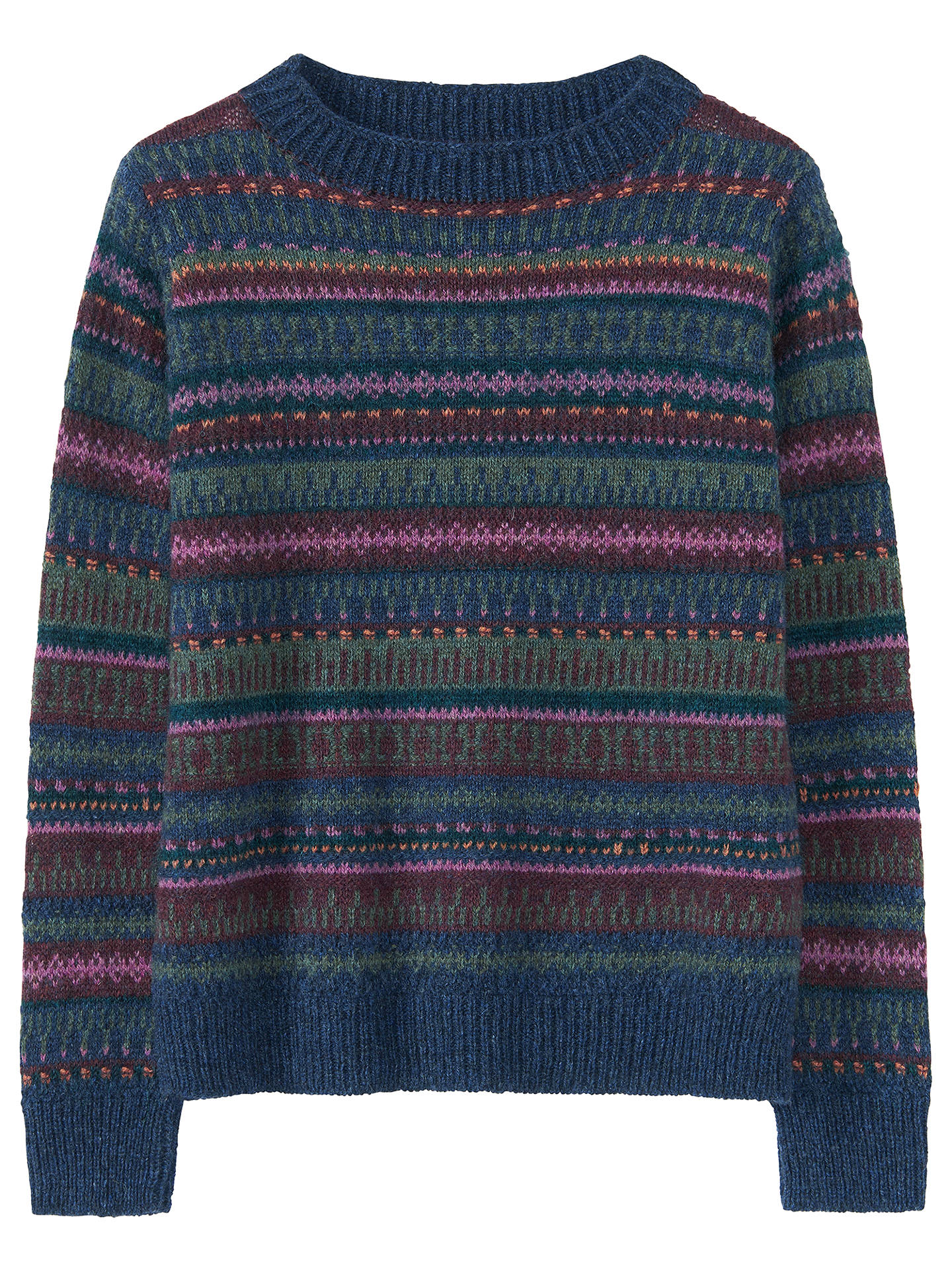 BuyToast Fair Isle Textured Jumper, Indigo/Multi, XS Online at johnlewis.com