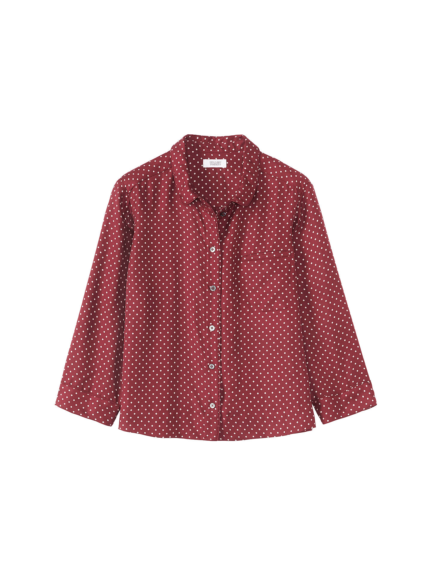 BuyToast Polka Dot Print Silk Top, Carnelian, 8 Online at johnlewis.com