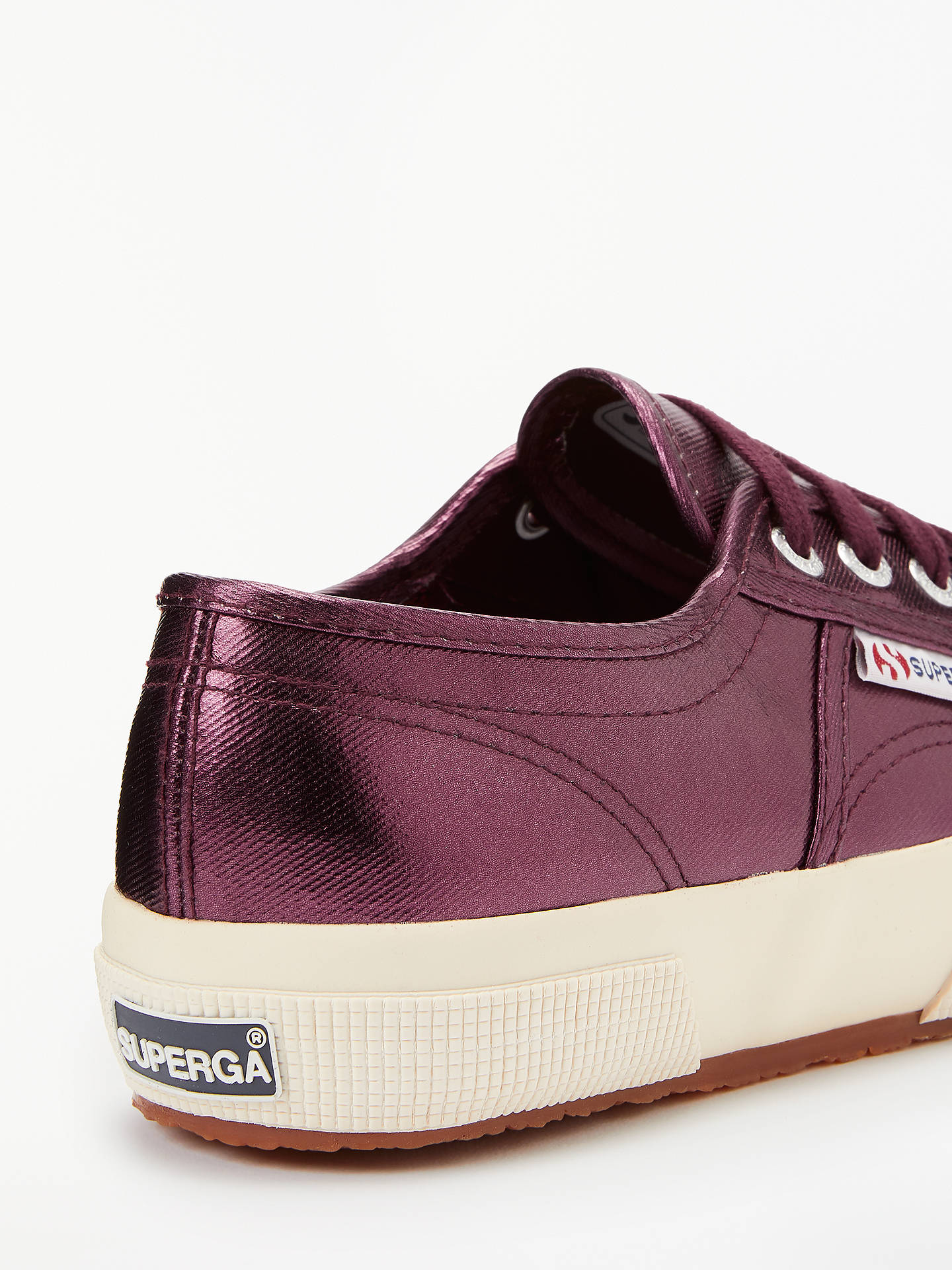 Buy Superga 2750 Cotu Classic Trainer Plimsolls, Metallic Red, 4 Online at johnlewis.com