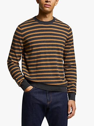 John Lewis & Partners Cotton Cashmere Stripe Jumper