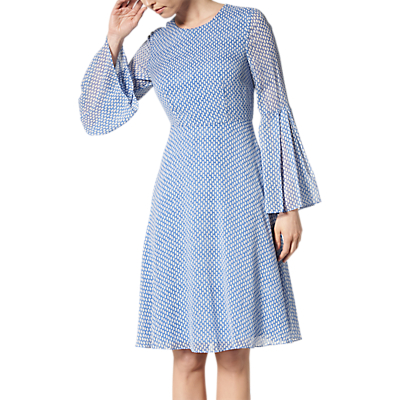 L.K.Bennett Abbie Silk Dress, Blue