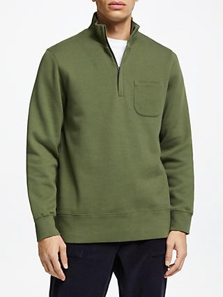 JOHN LEWIS & Co. Patch Pocket Funnel Neck Sweatshirt