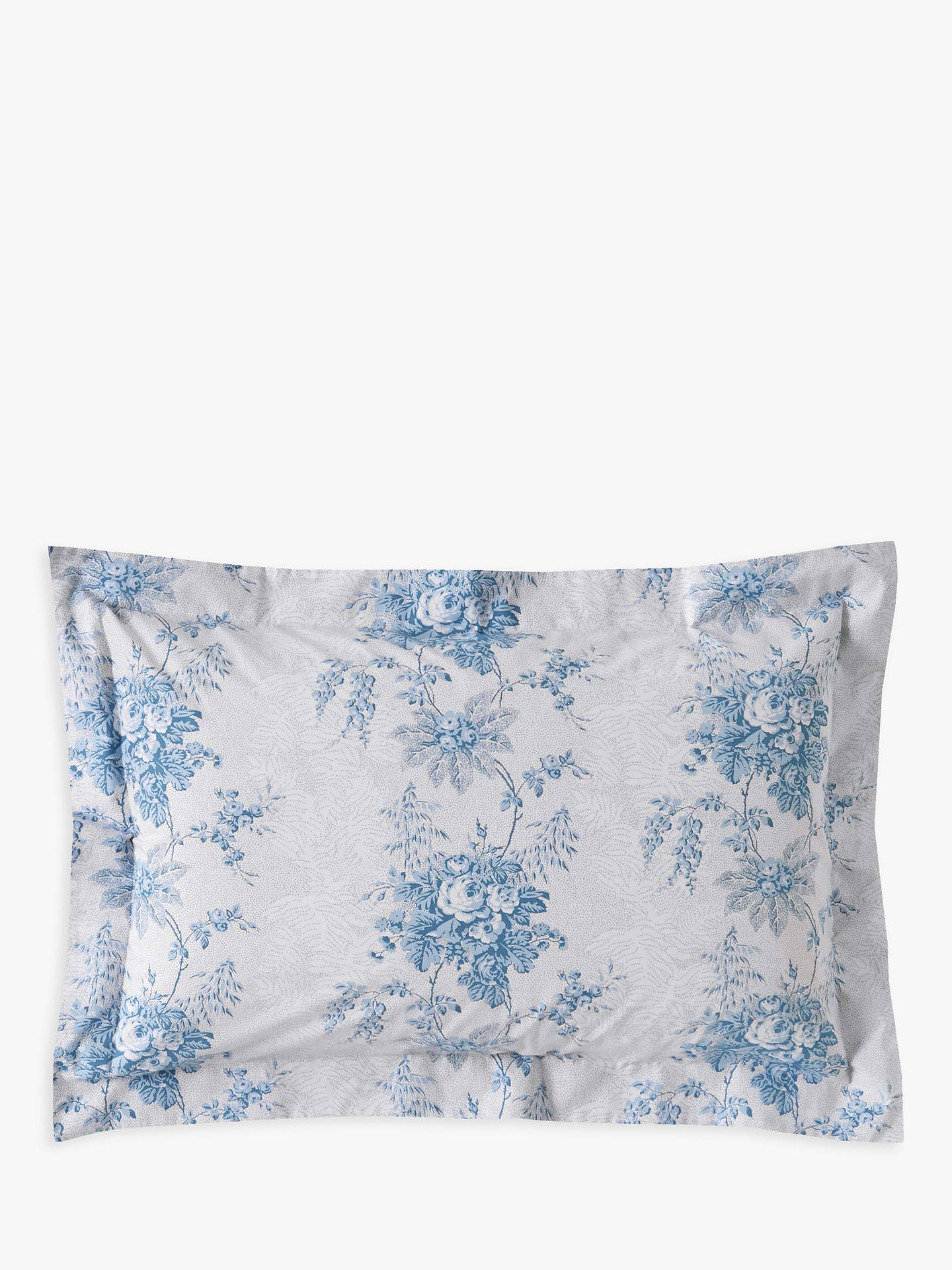 BuyCabbages & Roses Charlotte Double Duvet Cover, Blue Online at johnlewis.com