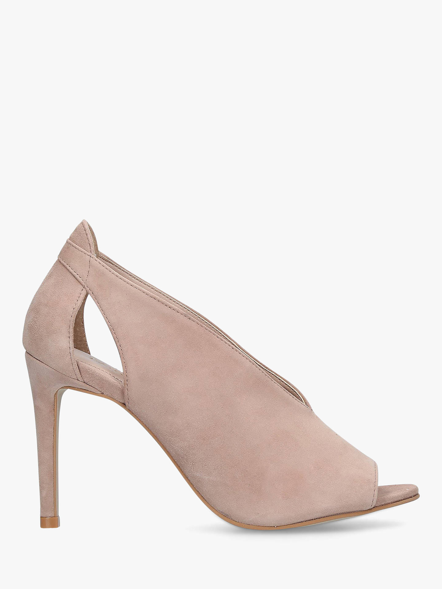 Buy Carvela Alpha High Stiletto Heel Sandals, Neutral, 5 Online at johnlewis.com