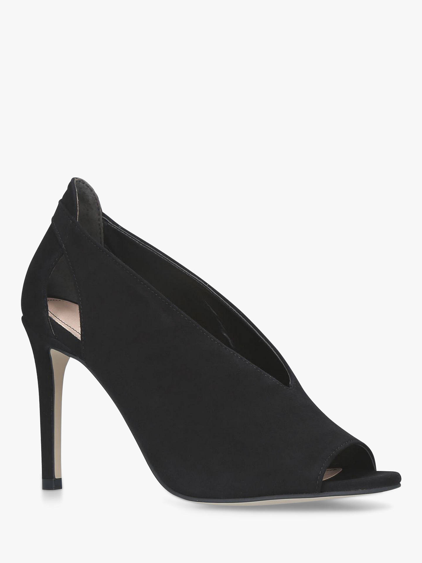 Buy Carvela Alpha High Stiletto Heel Sandals, Black, 3 Online at johnlewis.com