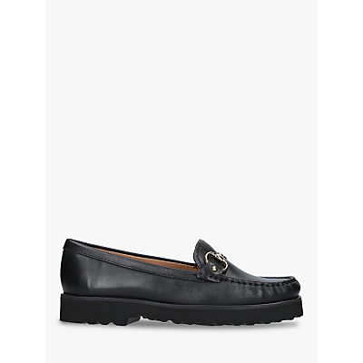 Carvela Comfort Cara Chunky Loafers, Black Leather
