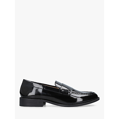 Carvela Comfort Clay Slip On Loafers, Black Patent