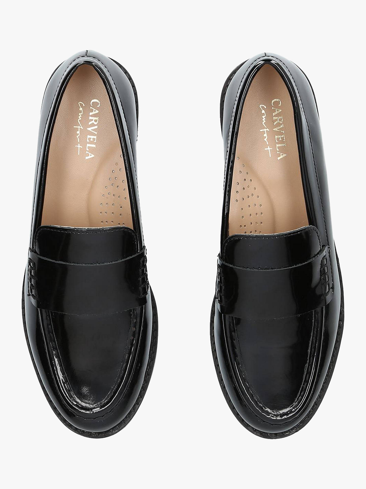 BuyCarvela Comfort Clay Slip On Loafers, Black Patent, 3 Online at johnlewis.com
