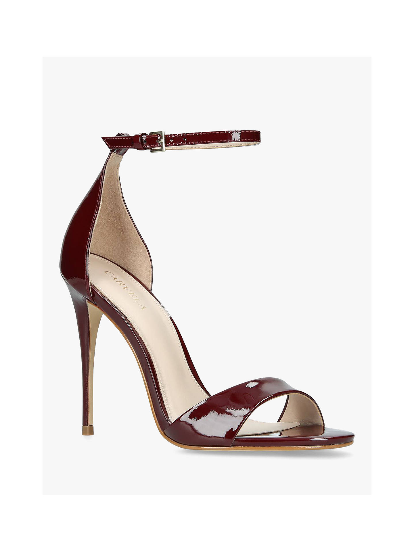 Buy Carvela Glimmer High Heel Sandals, Red Patent, 6 Online at johnlewis.com