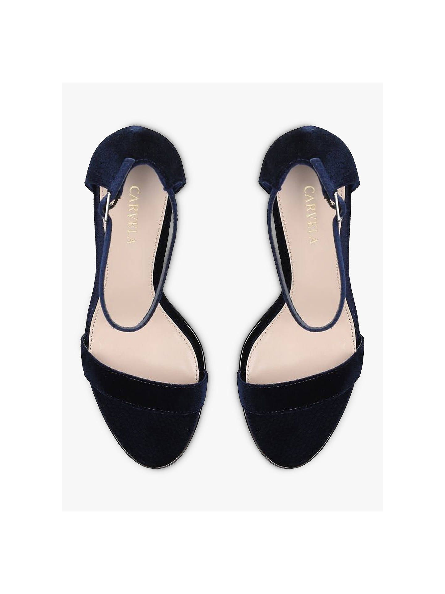 BuyCarvela Kink Stiletto Heel Sandals, Blue, 3 Online at johnlewis.com