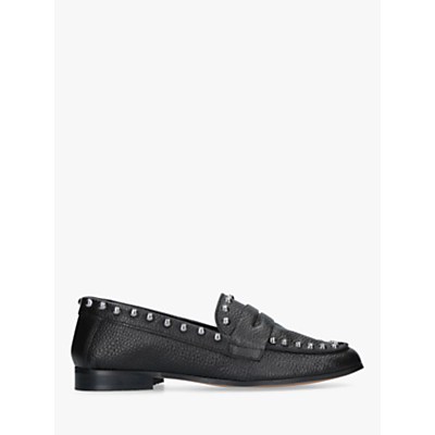 Carvela Kurt Geiger Lowry Studded Moccasins, Black Leather