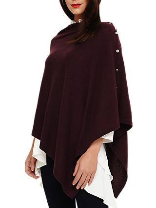 Phase Eight Odette Poncho, Aubergine