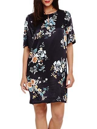 Phase Eight Zadie Floral Print Dress, Black/Multi