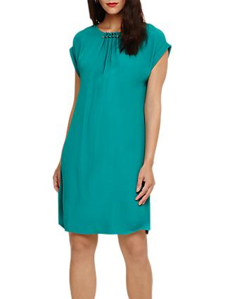 Phase Eight Maya Pleat Dress, Peacock