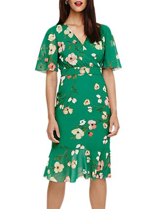 Phase Eight Hailey Floral Print Dress, Jade