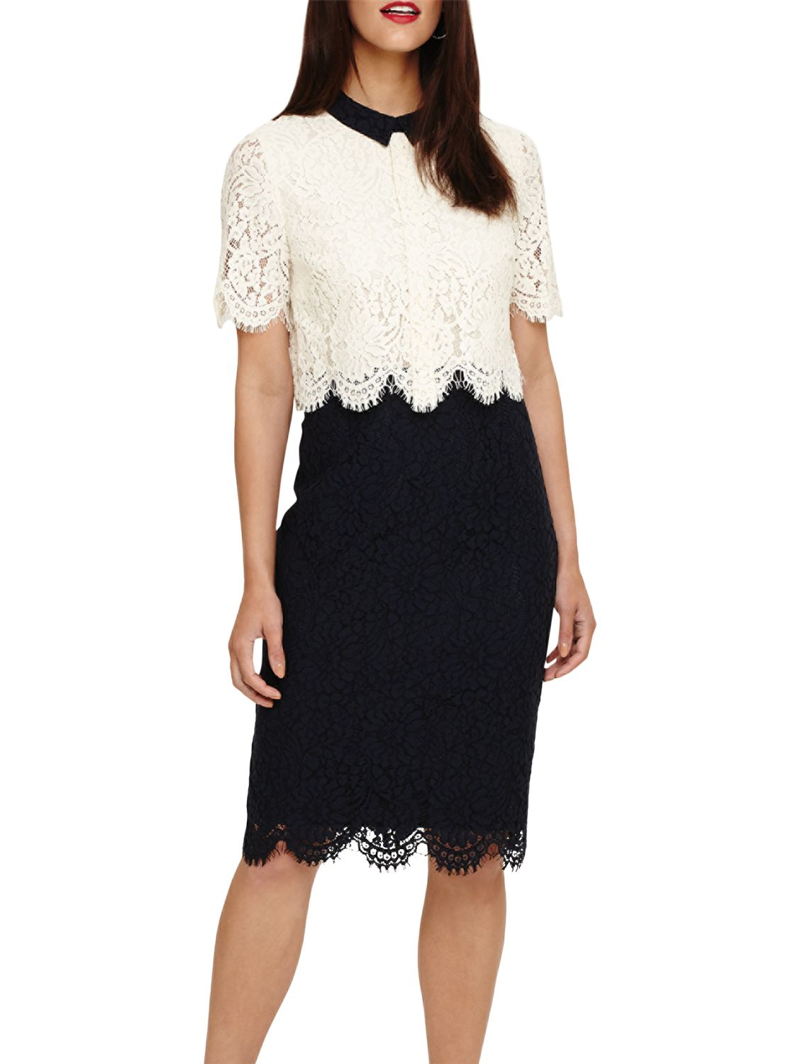 navy and cream lace dress off 9   medpharmres.com