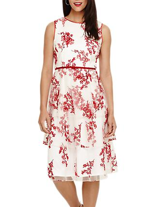 Phase Eight Francine Dress, Ivory/Red