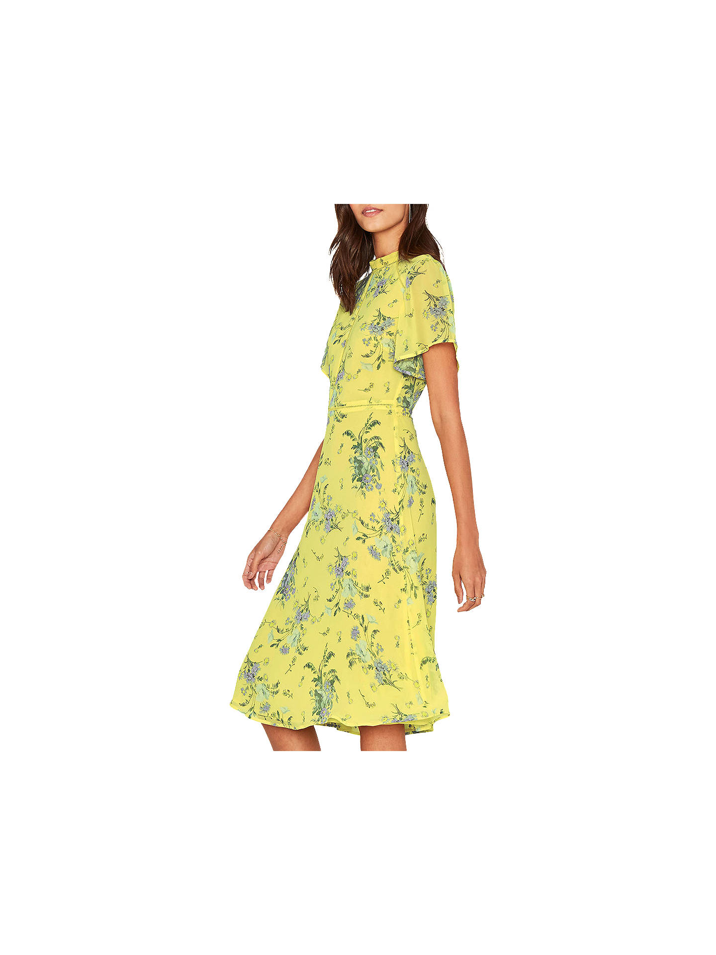 6dd8317e21df Buy Oasis Provence Floral Print Midi Dress, Yellow/Lilac, 6 Online at  johnlewis ...
