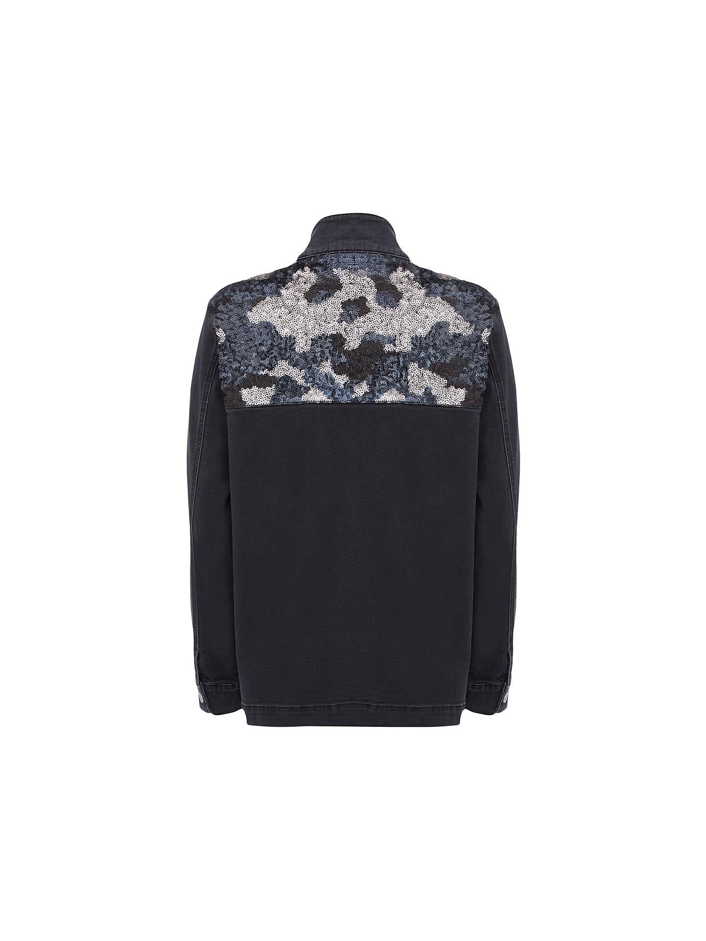 cddaba22aea26 ... Buy Mint Velvet Sequined Jacket, Black, 10 Online at johnlewis.com