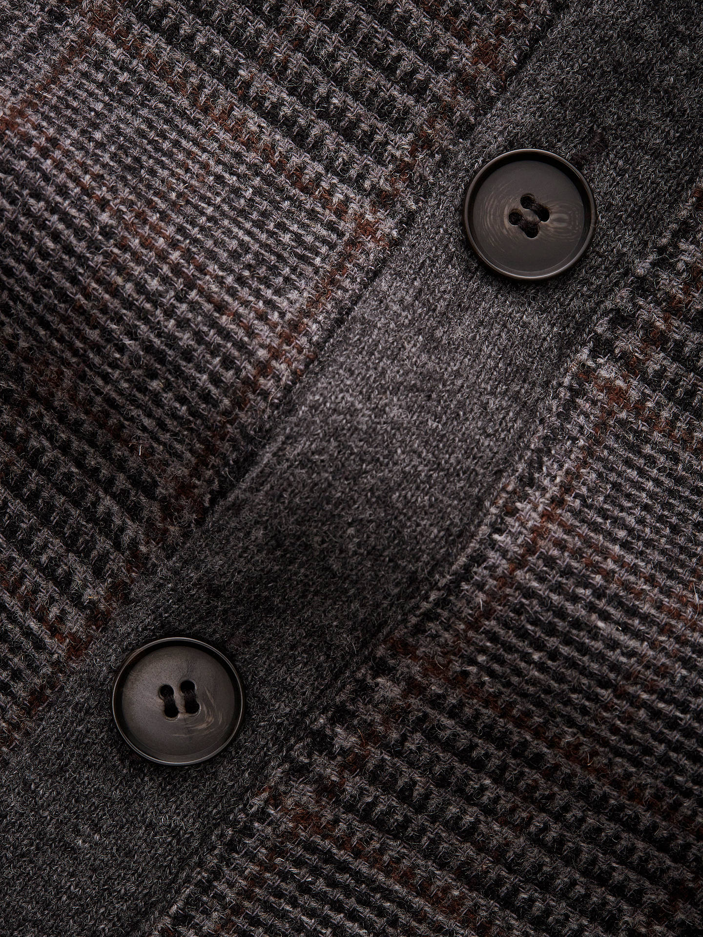 Hackett London Tweed Cardigan, Grey at John Lewis & Partners