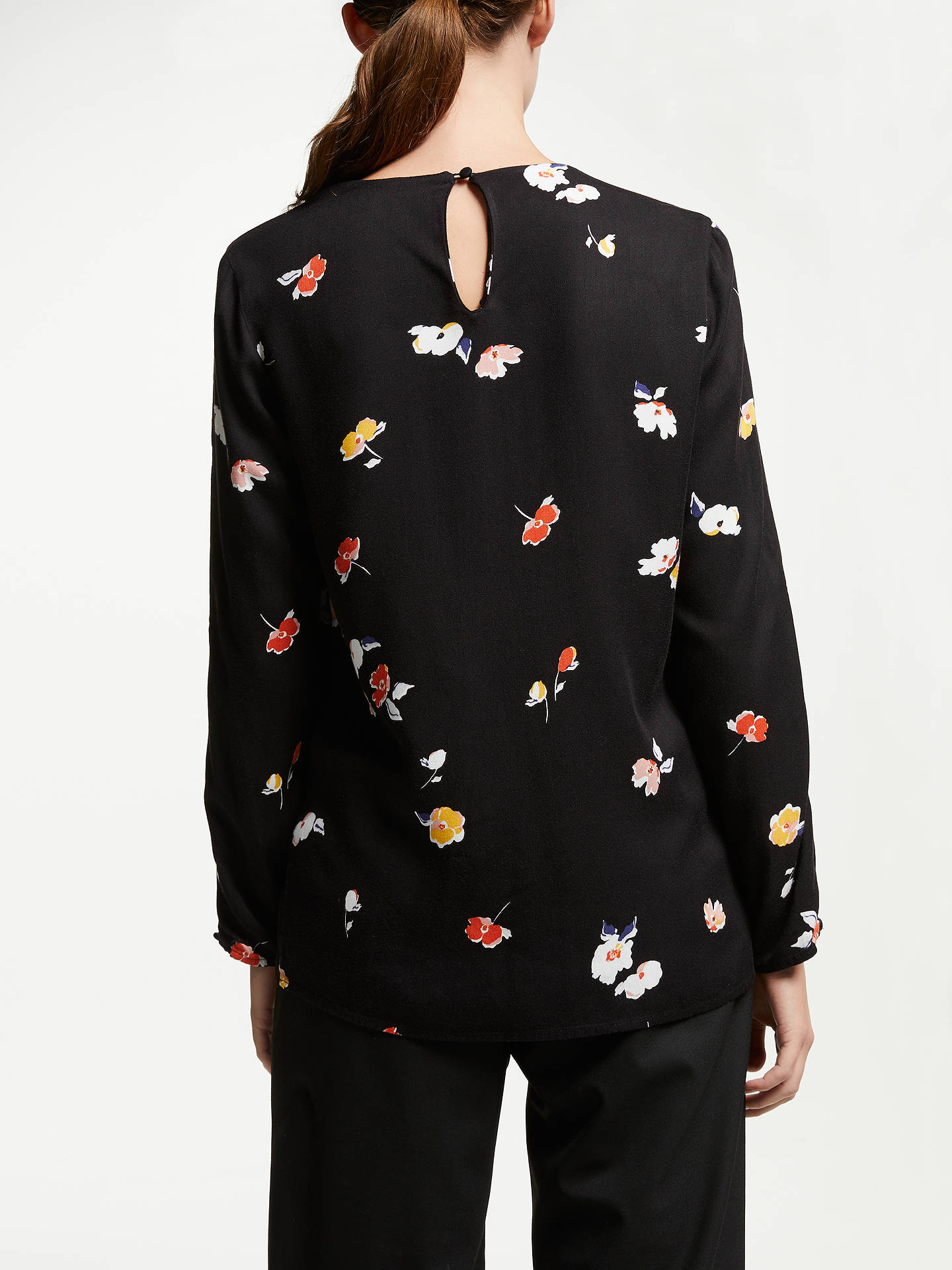 BuyARMEDANGELS Agna Fall Flowers Blouse, Black, XS Online at johnlewis.com
