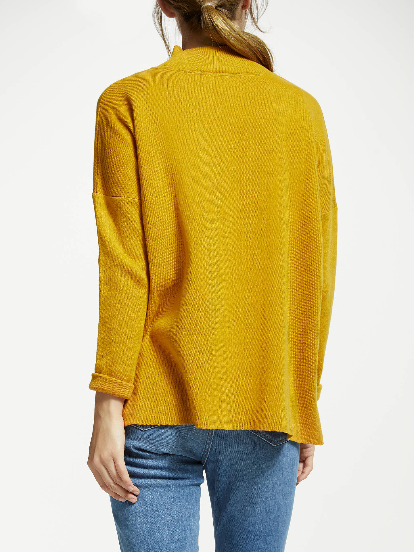 BuyARMEDANGELS Yuna Organic Cotton Jumper, Gold Yellow, XS Online at johnlewis.com