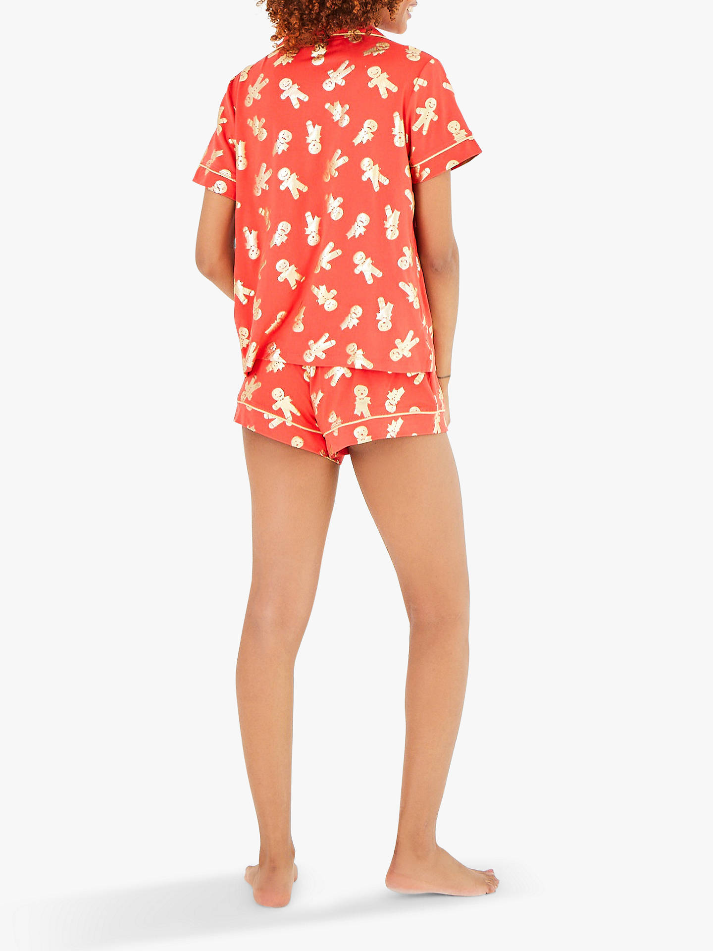 Buy Chelsea Peers Gingerbread Shorts Pyjama Set, Red, S Online at johnlewis.com