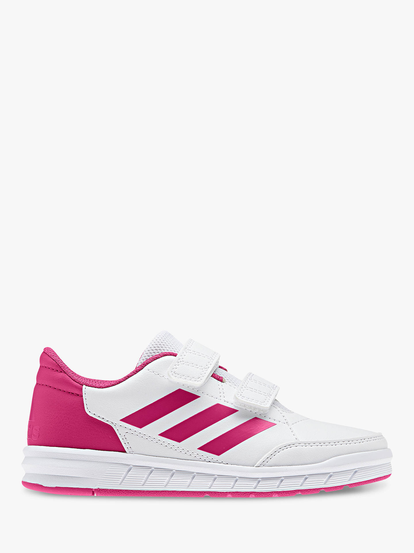 Buyadidas Junior Alta Sport CF K Rip-Tape Trainers, White/Pink, 10 Jnr Online at johnlewis.com