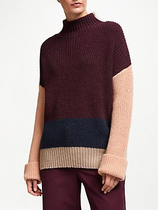 John Lewis & Partners Turtle Neck Sweater, Multi