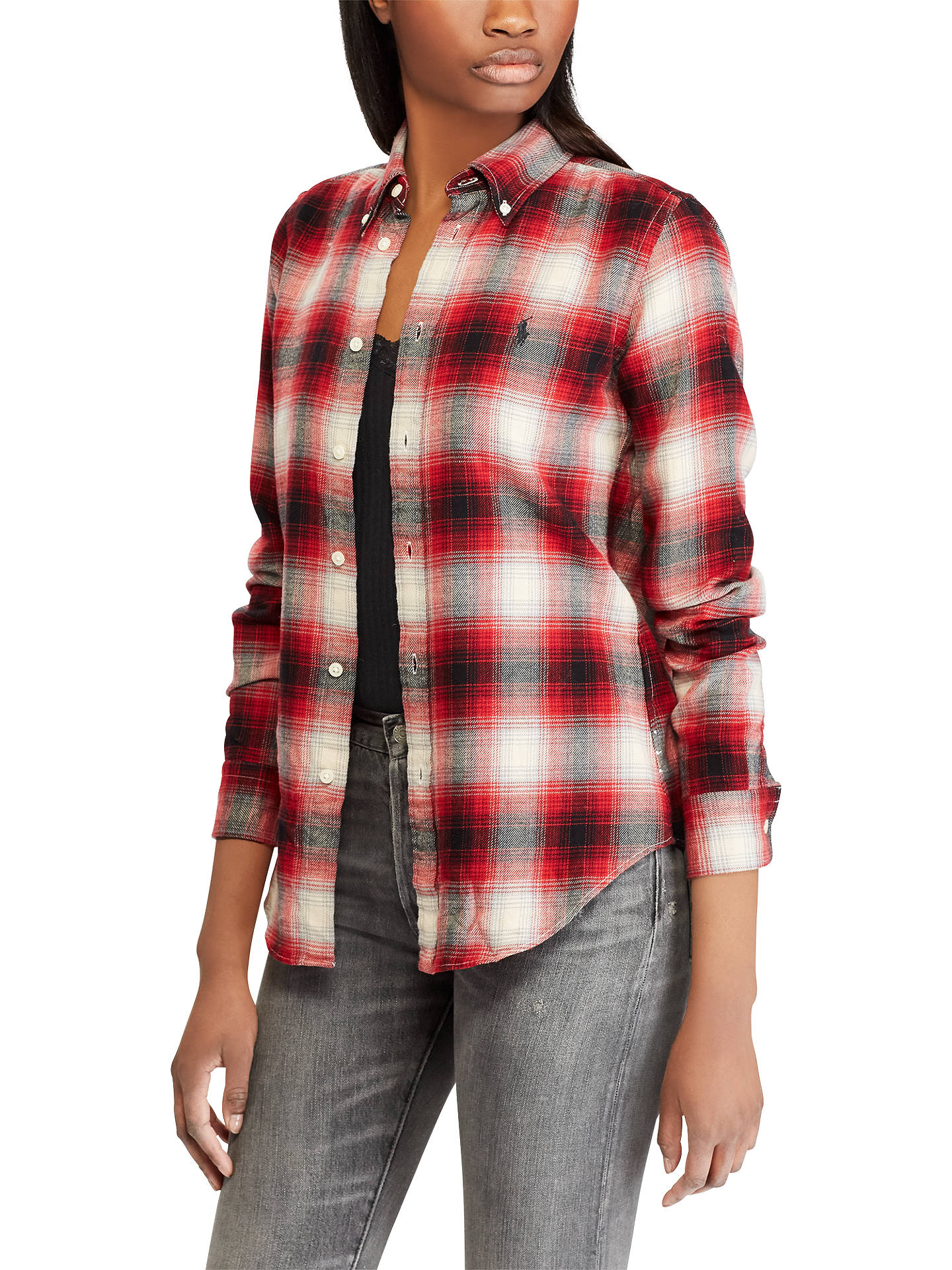 Buy Polo Ralph Lauren Georgia Check Shirt, Red/Black, XS Online at johnlewis.com