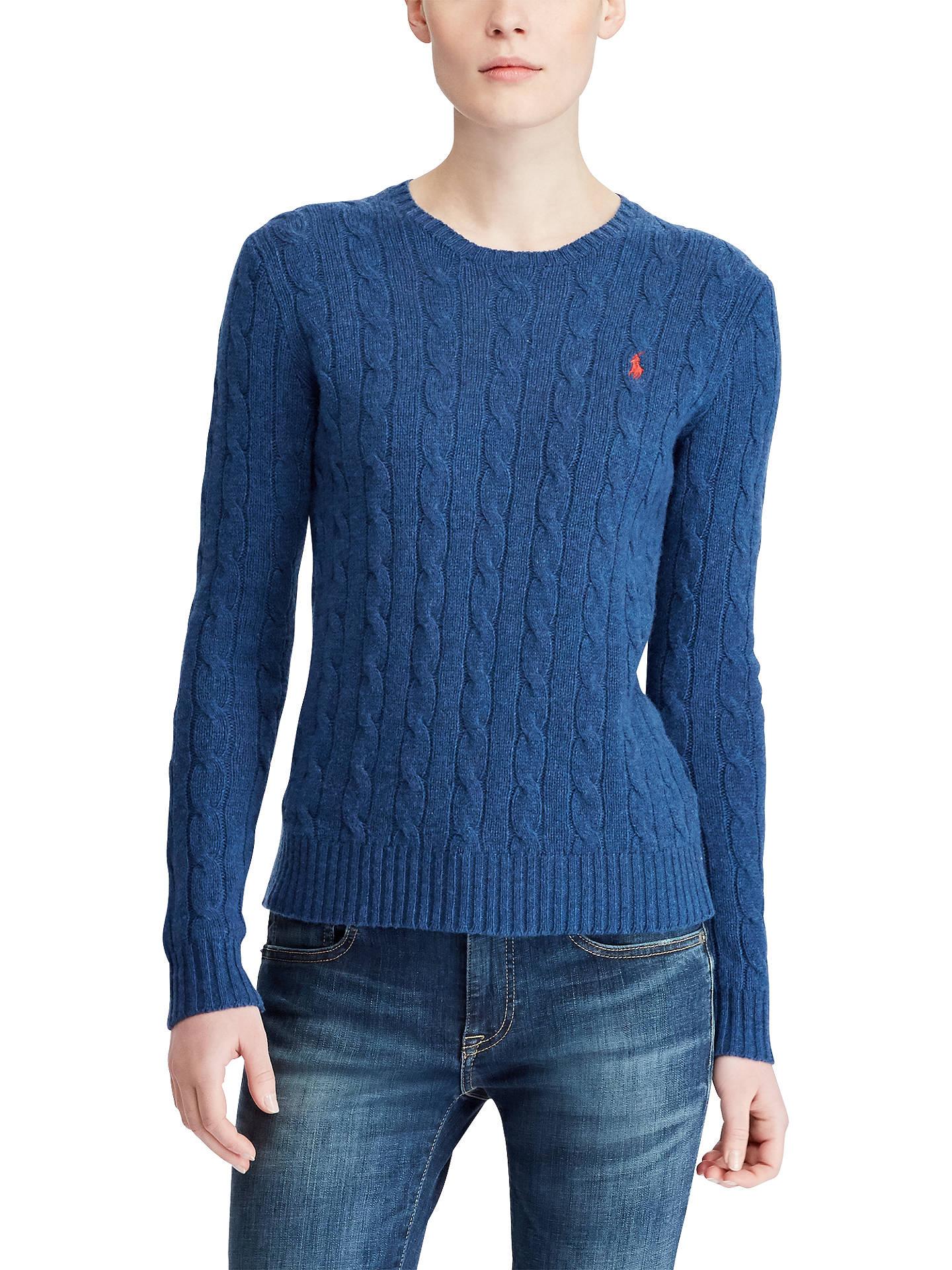 41e86aada4cfc Polo Ralph Lauren Julianna Cable Knit Merino Wool Blend Jumper at ...