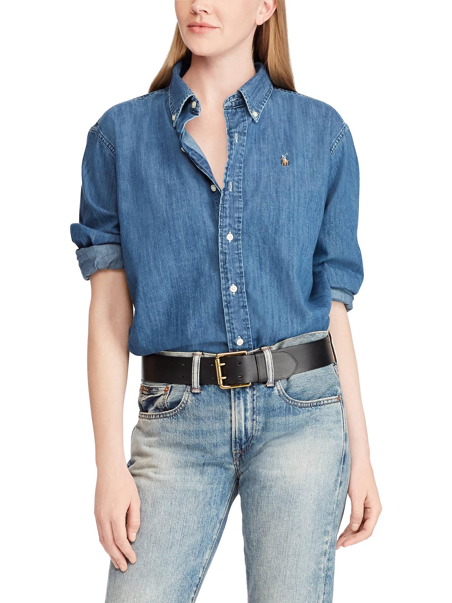dccaf323f327f Buy Polo Ralph Lauren Long Sleeve Chambray Big Shirt