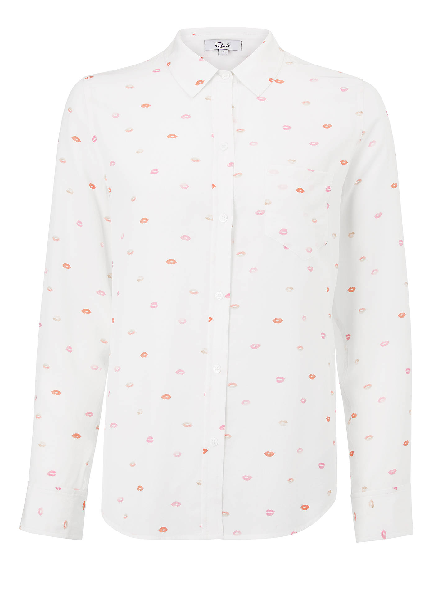 Buy Rails Kate Silk Top, Rossetto, S Online at johnlewis.com