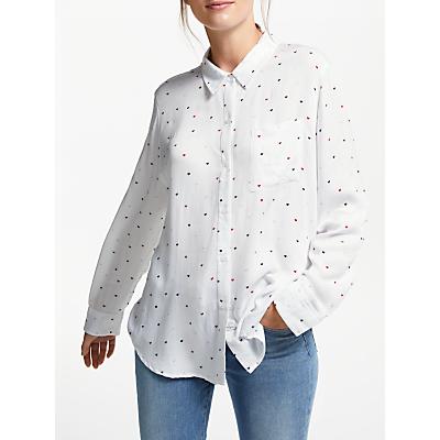 Rails Rosci Heart Print Blouse, White/Multi