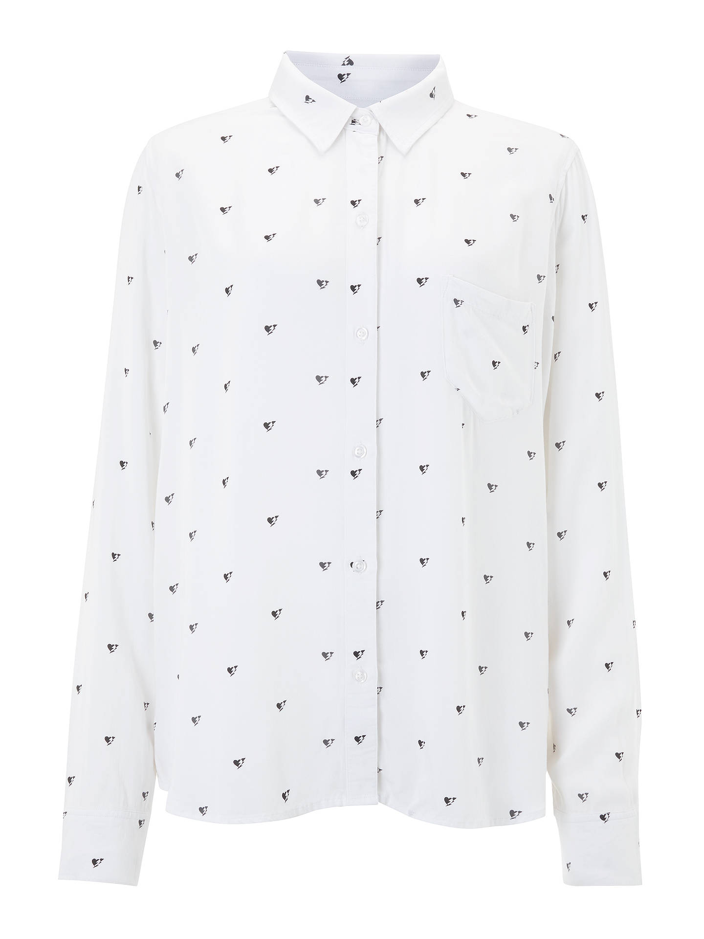 Buy Rails Rosci Electric Heart Blouse, White, XS Online at johnlewis.com